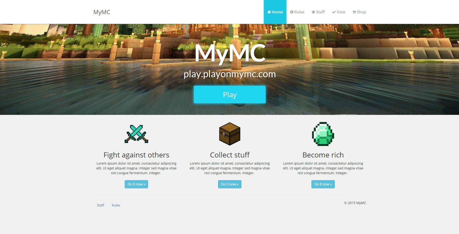 008 Unforgettable Minecraft Website Template Html Free Download High Definition Full