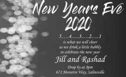 008 Unforgettable New Year Eve Invitation Template Concept  Party Free Word
