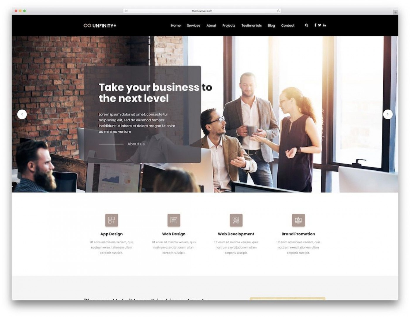 008 Unforgettable One Page Website Template Html5 Responsive Free Download High Definition 1400