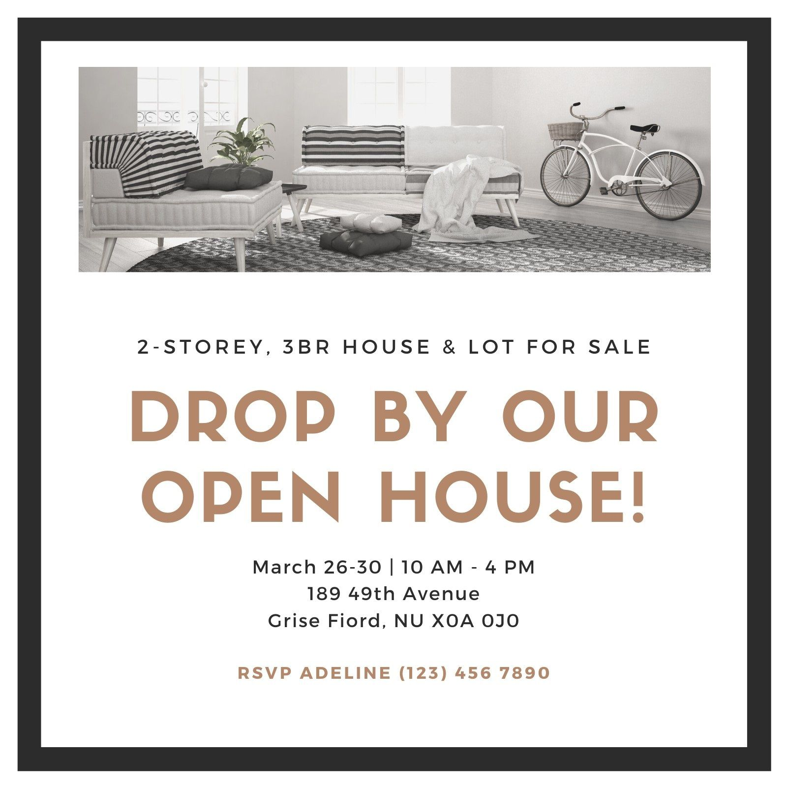 008 Unforgettable Open House Invitation Template Concept  Templates Free Printable BusinesFull