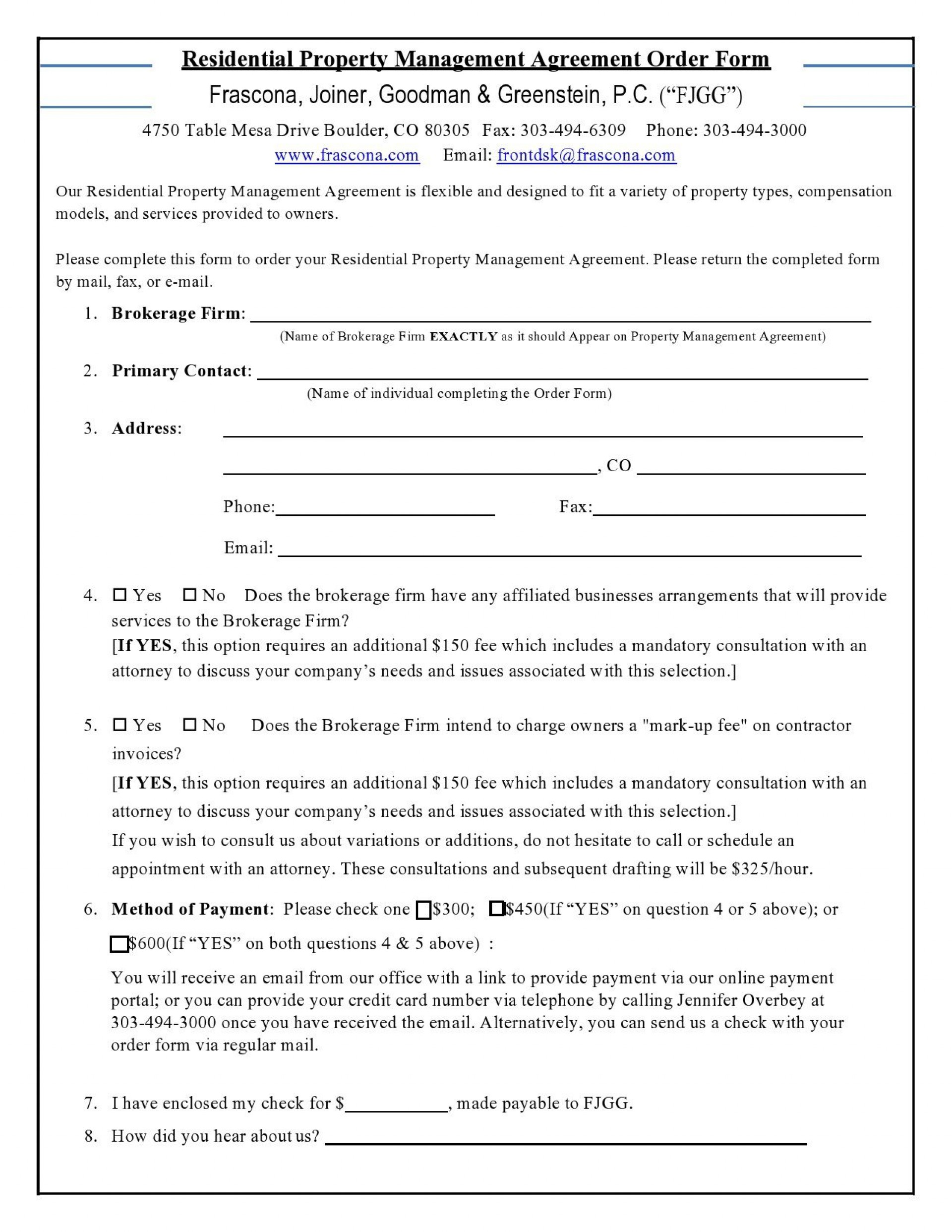 008 Unforgettable Property Management Agreement Template Pdf Photo  Contract1920