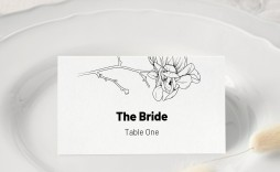 008 Unforgettable Wedding Name Card Template Picture  Table Free Place Escort