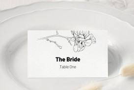 008 Unforgettable Wedding Name Card Template Picture  Free Download Design Sticker Format