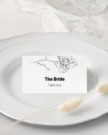 008 Unforgettable Wedding Name Card Template Picture  Free Download Design Sticker Format360
