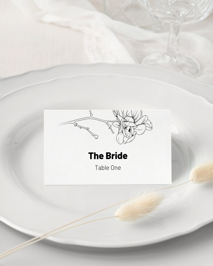 008 Unforgettable Wedding Name Card Template Picture  Free Download Design Sticker Format728