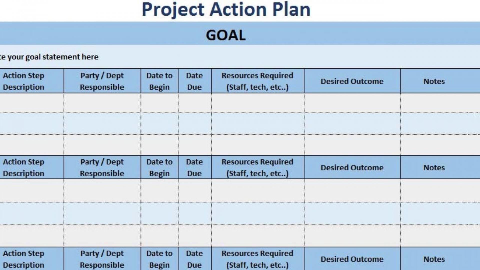 008 Unique Action Plan Template Excel Highest Quality 1920