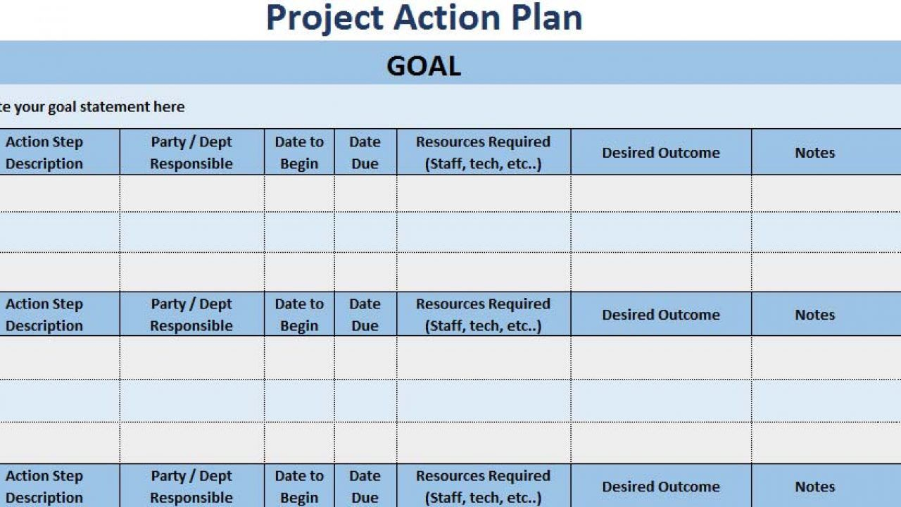 008 Unique Action Plan Template Excel Highest Quality Full