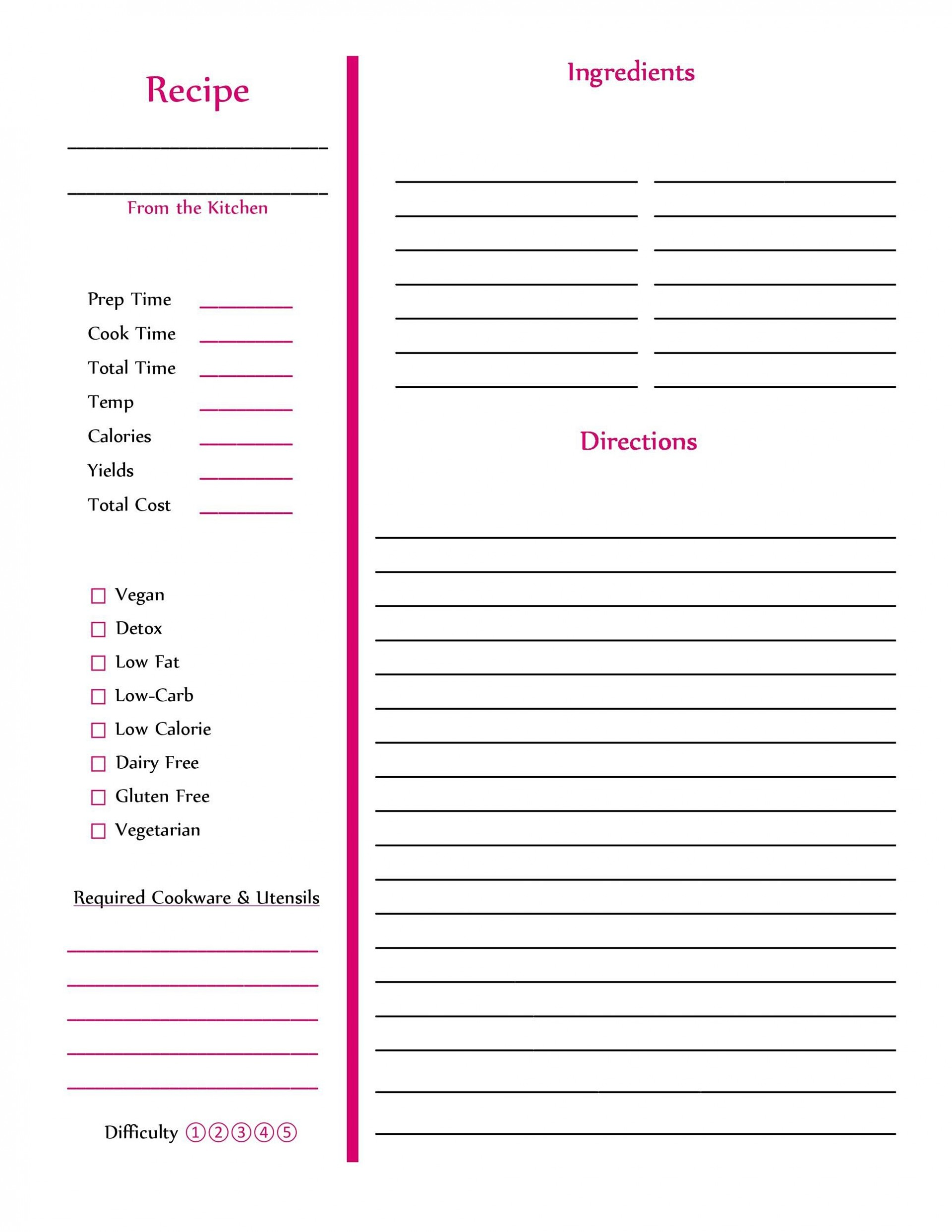008 Unique Create Your Own Cookbook Free Template Example 1920