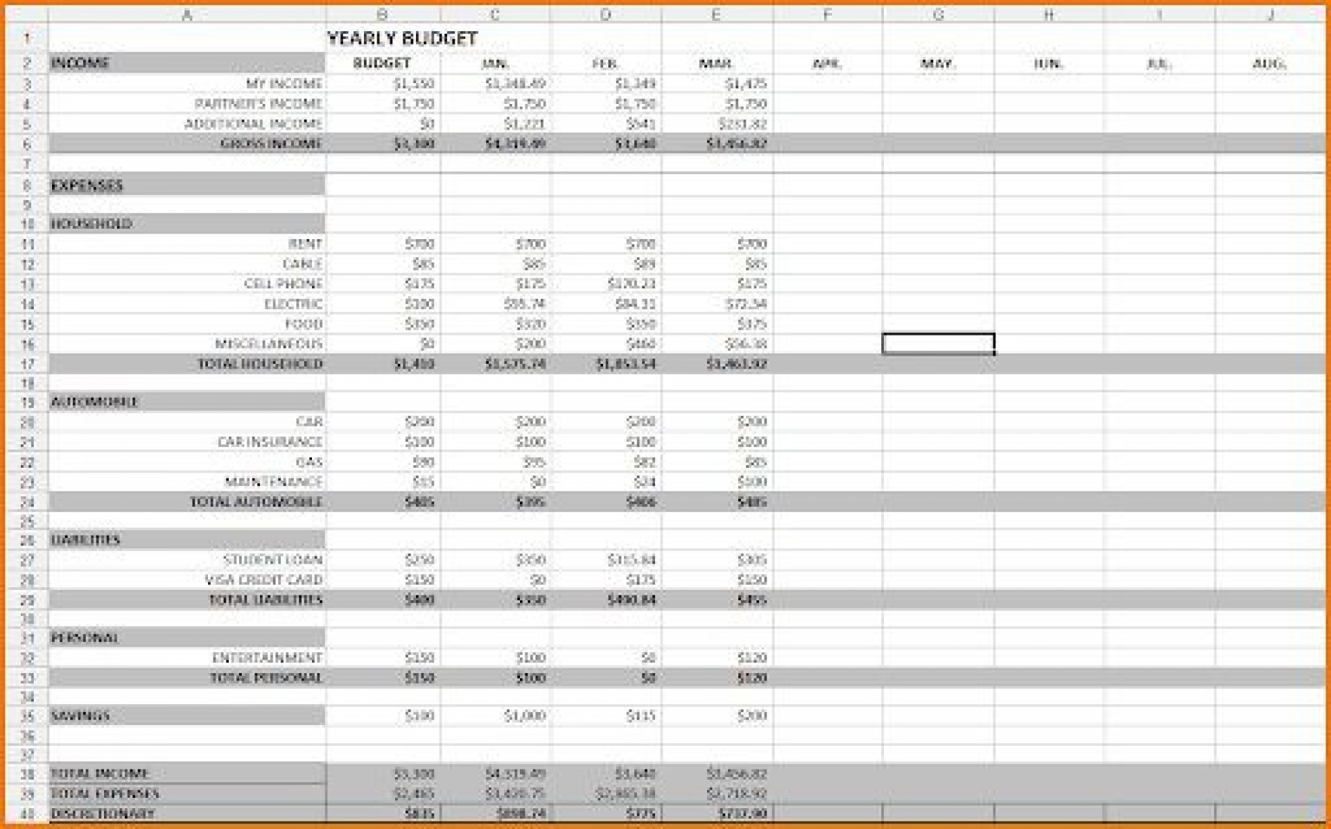 008 Unique Excel Budget Spreadsheet Template Picture  Tracker Free Household Monthly1920