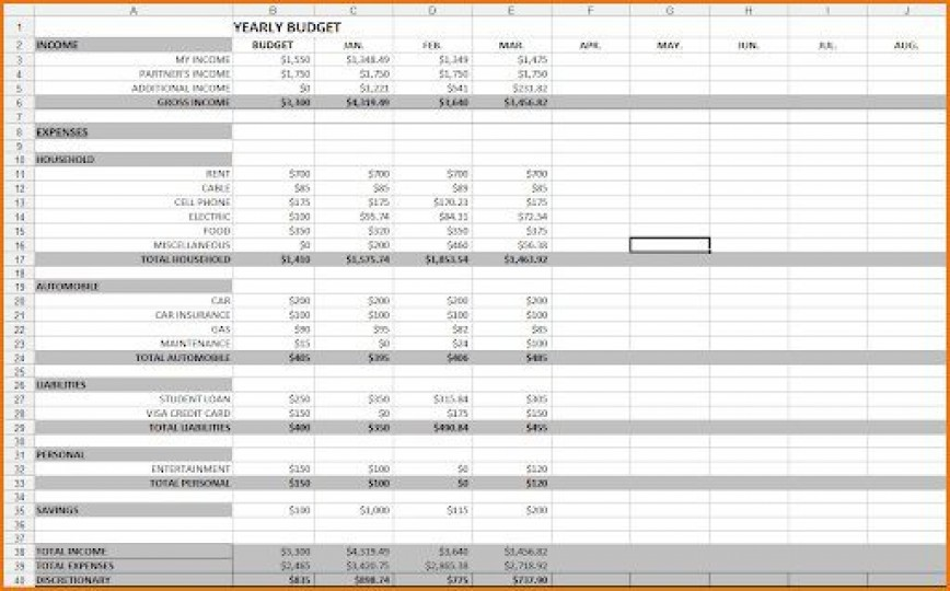 008 Unique Excel Budget Spreadsheet Template Picture  Monthly Busines Personal