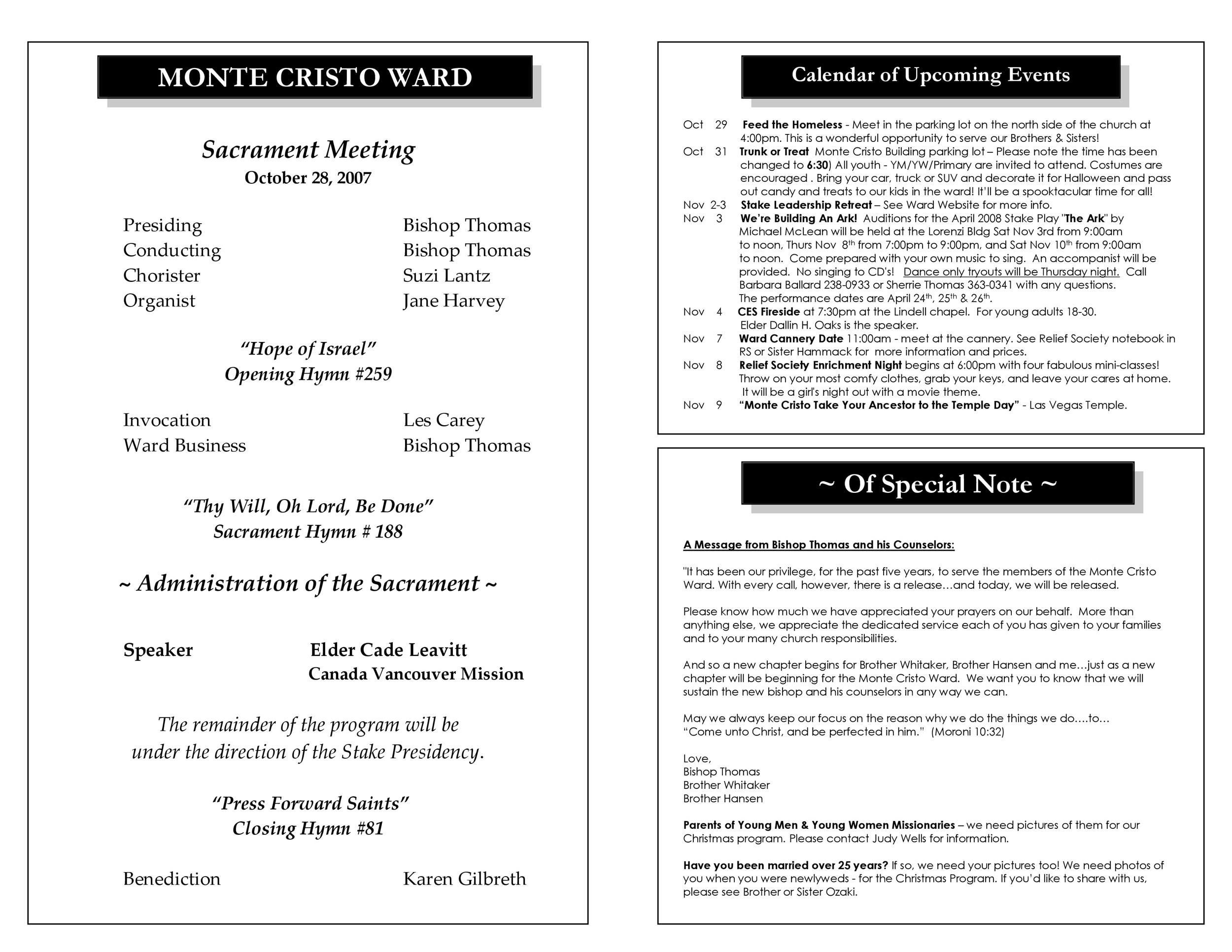 008 Unique Free Church Program Template Design Highest Quality Full
