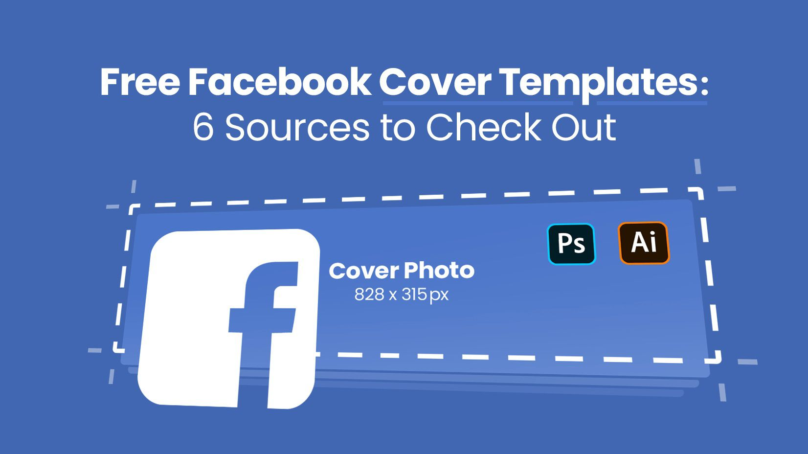008 Unique Free Facebook Cover Template Example  Templates PhotoshopFull