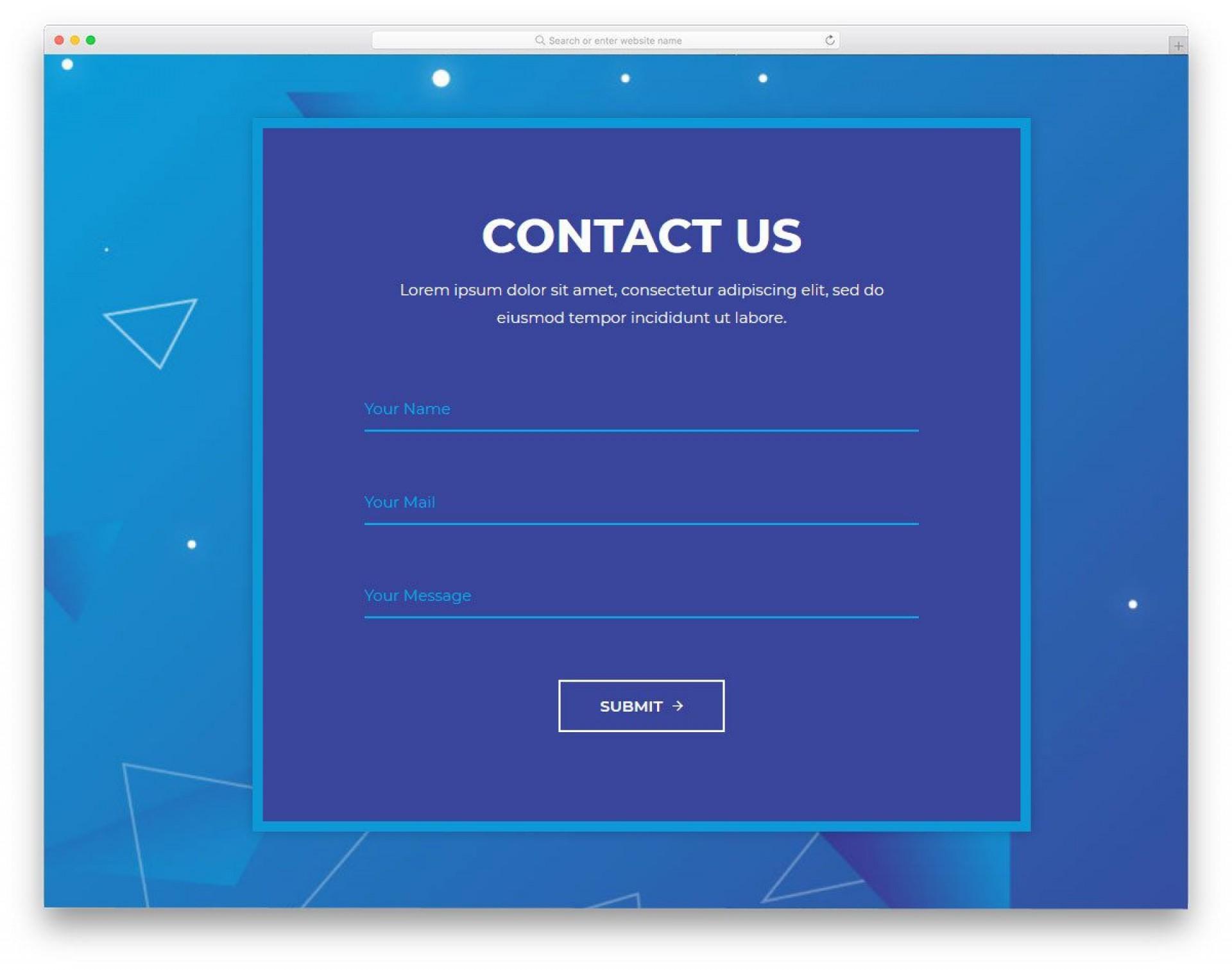 008 Unique Free Html Form Template Highest Clarity  Templates Survey Application Download Registration1920