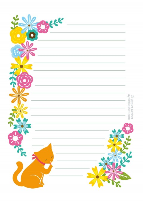 008 Unique Free Printable Stationery Paper Template Highest Clarity 480