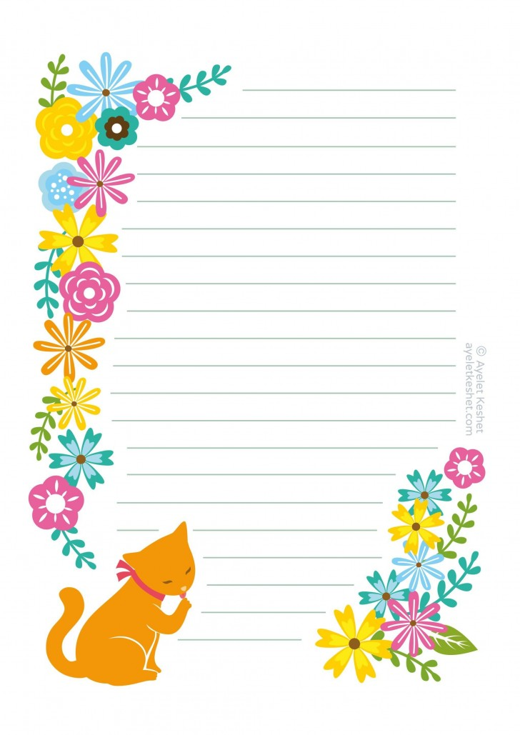 008 Unique Free Printable Stationery Paper Template Highest Clarity 728
