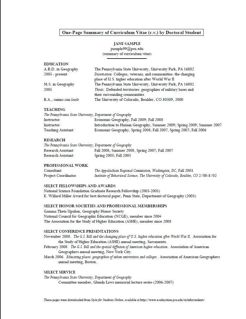008 Unique Graduate School Curriculum Vitae Template Inspiration  For Application Resume FormatFull