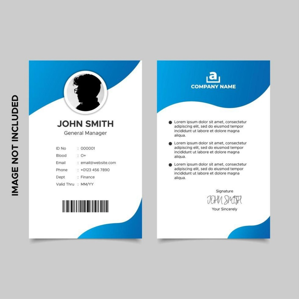 008 Unique Id Card Template Free Download Concept  Design Photoshop Identity Student WordLarge