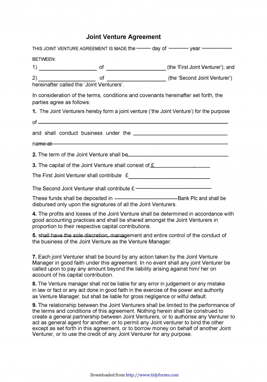 008 Unique Joint Venture Agreement Template Inspiration  South African Doc Uk Property DevelopmentLarge