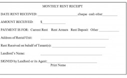 008 Unique Sample Rent Receipt Word Doc Picture