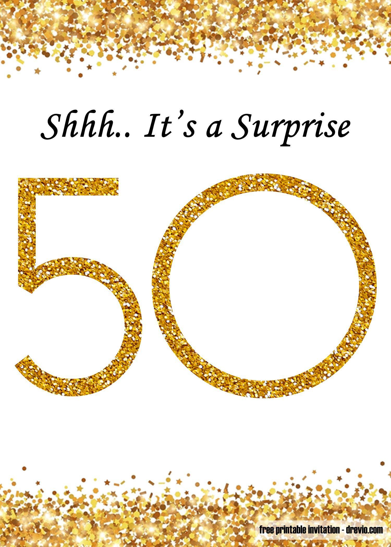 008 Unique Surprise 50th Birthday Invitation Template Word Free Photo Full