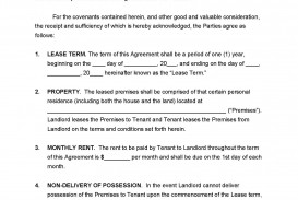 008 Unique Template For Lease Agreement Highest Quality  South Africa Pdf Printable Generic Rental Free