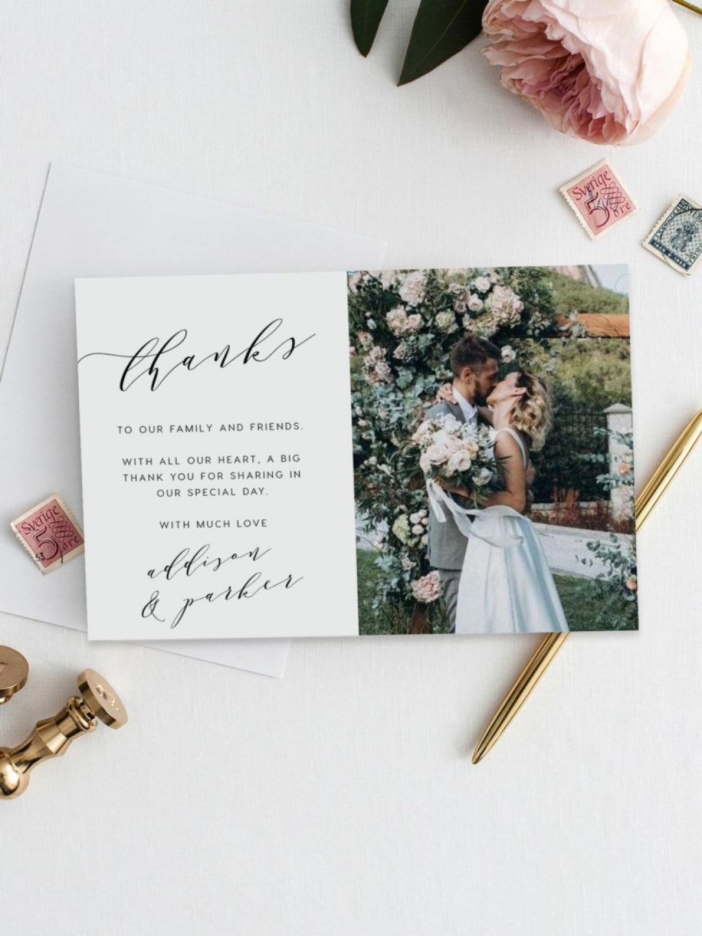 008 Unique Thank You Note Template Wedding High Definition  Card Etsy WordingLarge