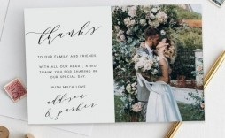 008 Unique Thank You Note Template Wedding High Definition  Card Etsy Wording