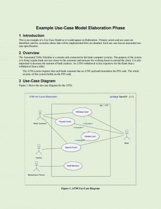 008 Unique Use Case Template Word Highest Clarity  Doc Test320