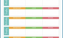 008 Unique Weekly Meal Planner Template Excel Photo  Downloadable Plan Editable
