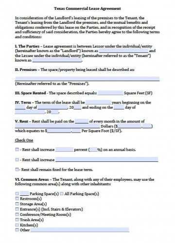 008 Unusual Apartment Lease Agreement Form Texa Image 360