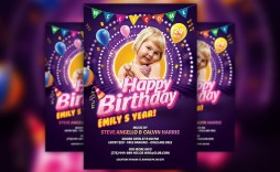 008 Unusual Birthday Party Invitation Flyer Template Free Download Idea