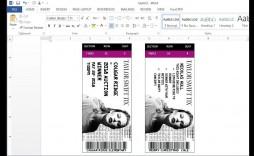 008 Unusual Concert Ticket Template Word Image  Free Microsoft