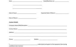008 Unusual Equipment Loan Agreement Template Photo  Simple Uk Borrowing Free