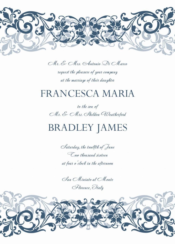 008 Unusual Formal Wedding Invitation Template Free Highest Clarity Large