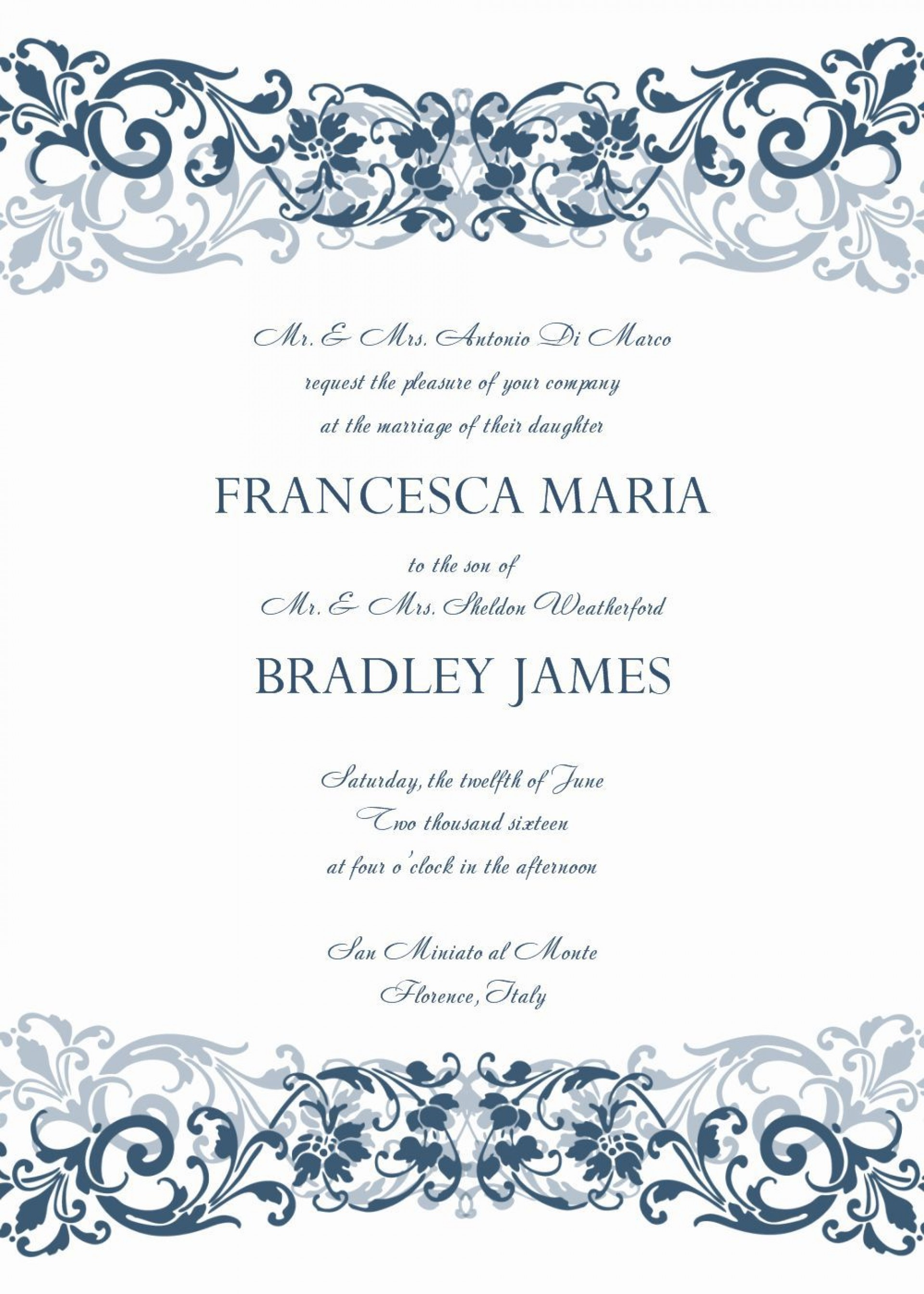 008 Unusual Formal Wedding Invitation Template Free Highest Clarity 1920