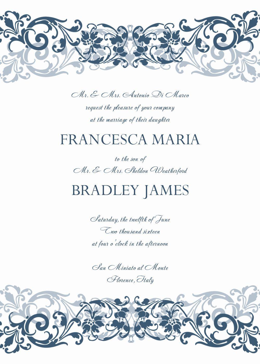 008 Unusual Formal Wedding Invitation Template Free Highest Clarity Full