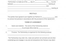008 Unusual General Partnership Agreement Template Texa Design  Texas