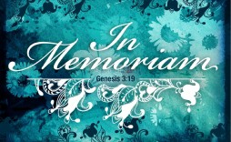 008 Unusual In Loving Memory Powerpoint Template Free High Resolution