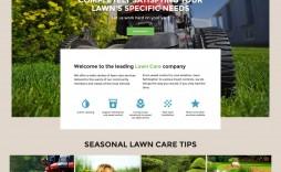 008 Unusual Lawn Care Website Template Sample