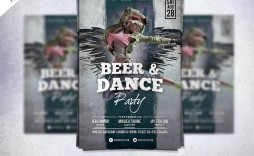 008 Unusual Party Event Flyer Template Free Download Concept