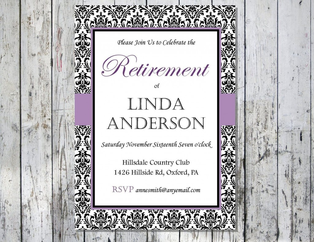 008 Unusual Retirement Party Invitation Template Free Printable High Def Large