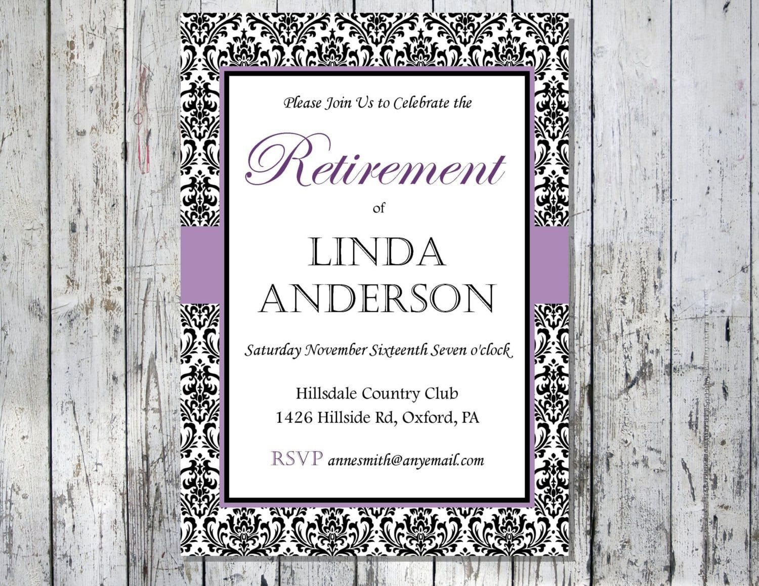 008 Unusual Retirement Party Invitation Template Free Printable High Def Full