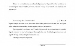 008 Unusual Sample Letter For Terminating Rental Agreement Highest Quality  Terminate Tenancy To Lease From Landlord A