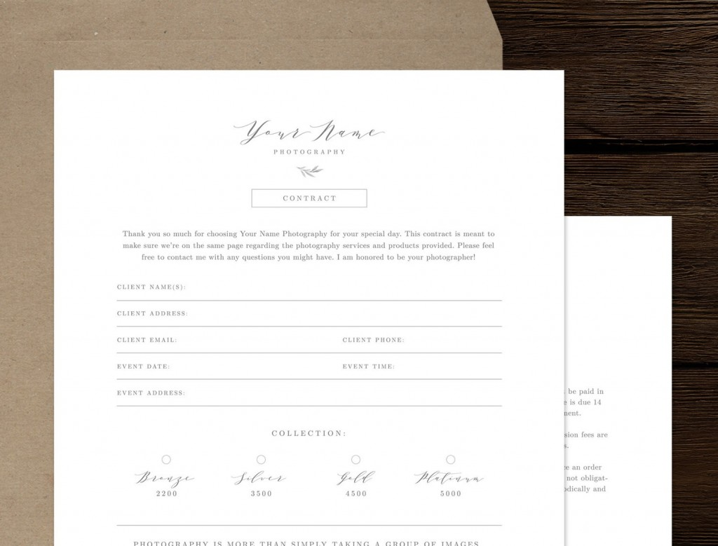 008 Unusual Wedding Photographer Contract Template High Def  Free Photography UkLarge