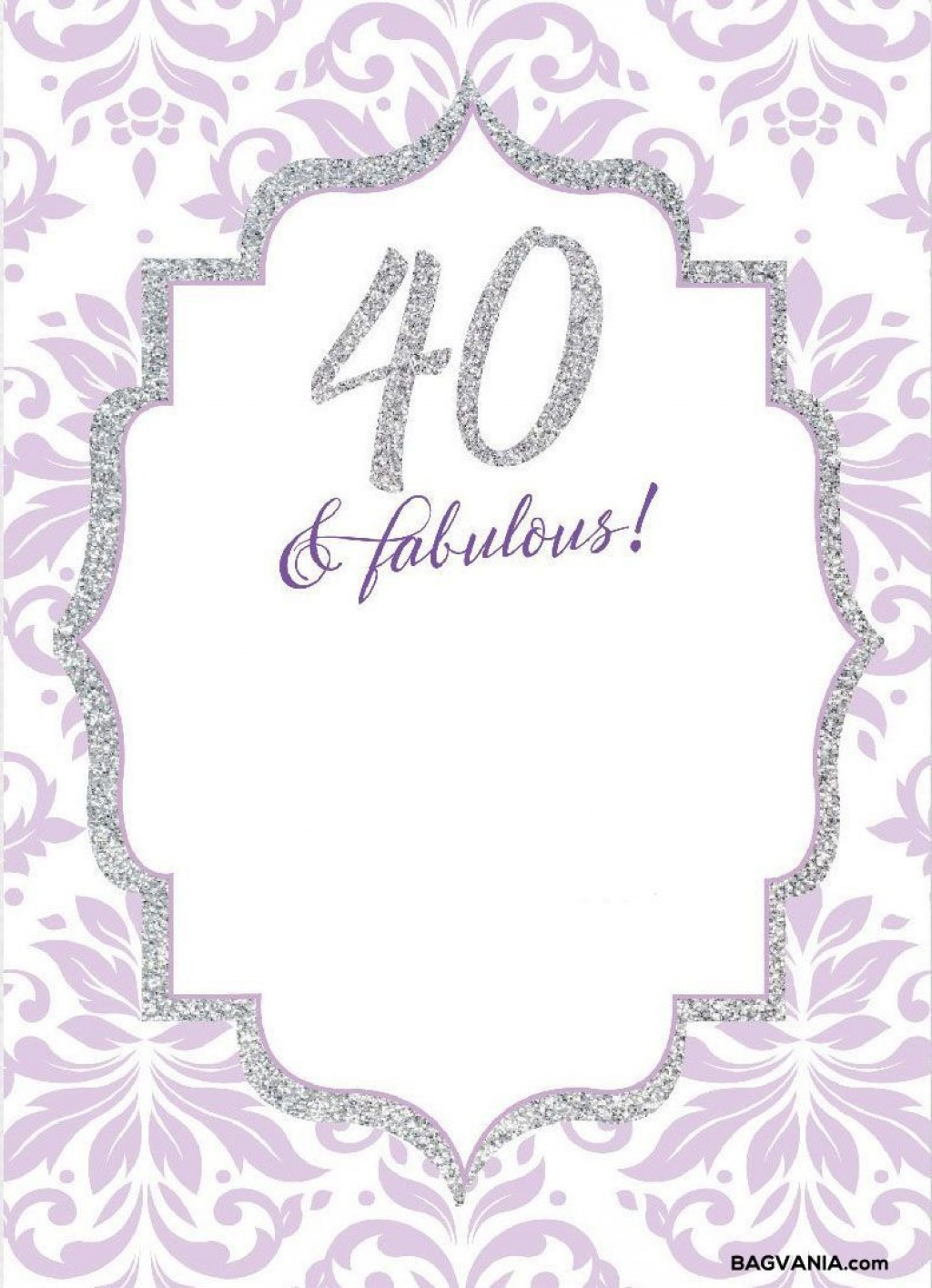 008 Wonderful 40th Birthday Party Invite Template Free Idea Large