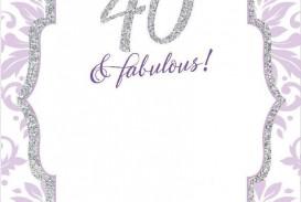 008 Wonderful 40th Birthday Party Invite Template Free Idea