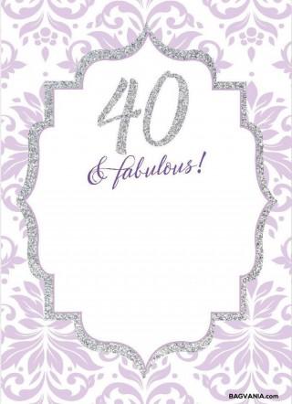 008 Wonderful 40th Birthday Party Invite Template Free Idea 320
