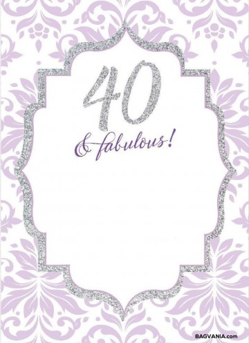 008 Wonderful 40th Birthday Party Invite Template Free Idea 360