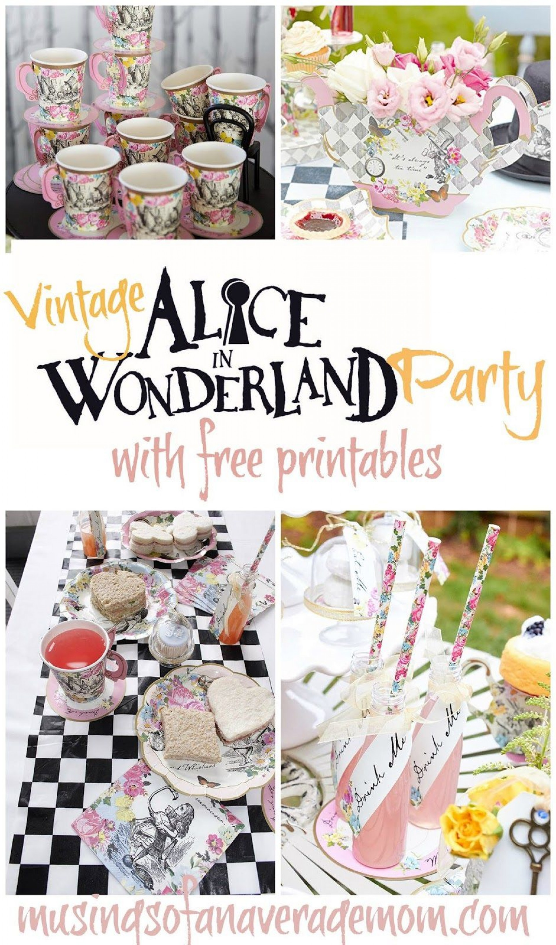 008 Wonderful Alice In Wonderland Party Template Picture  Templates Invitation Free1920