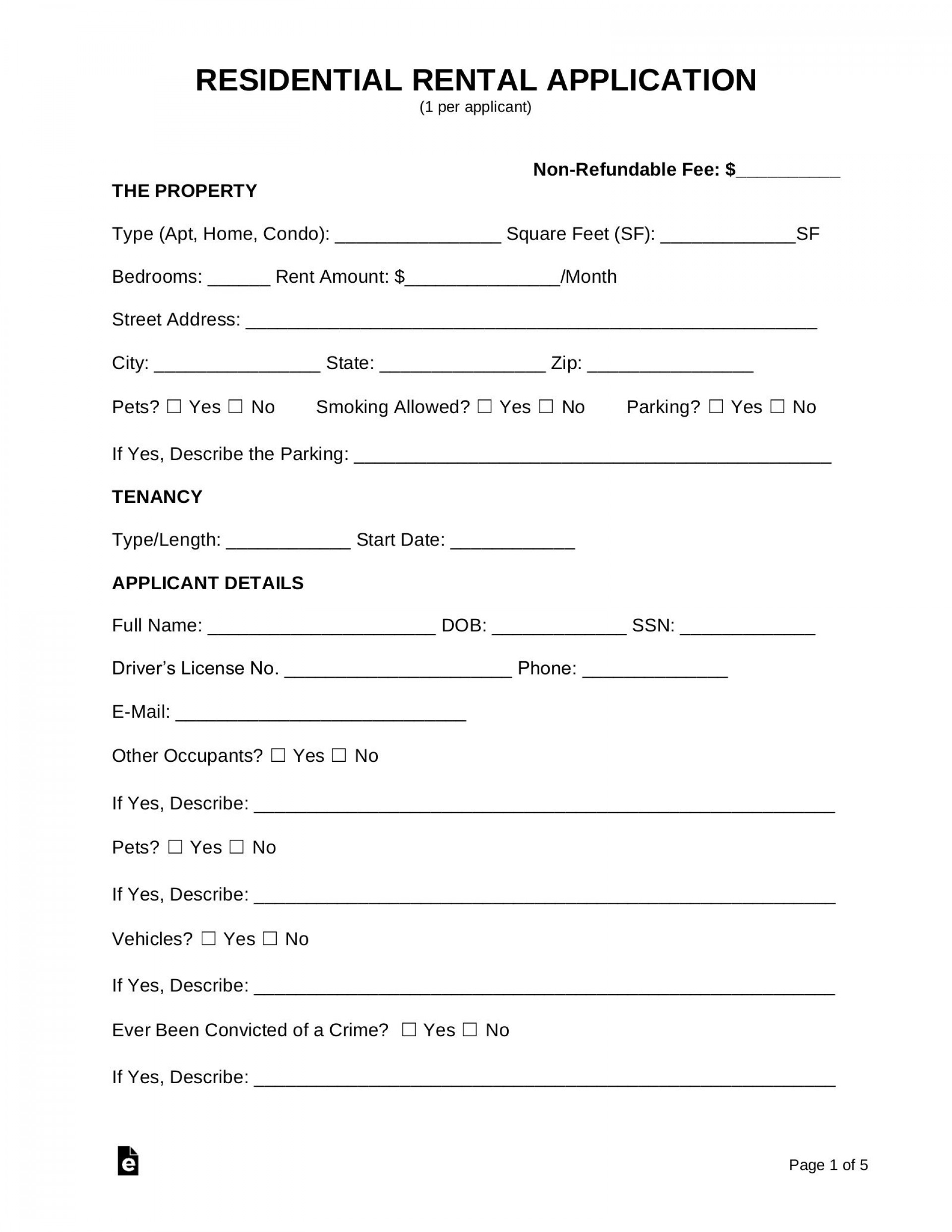 008 Wonderful Apartment Rental Application Template High Definition  Free Form Ontario1920